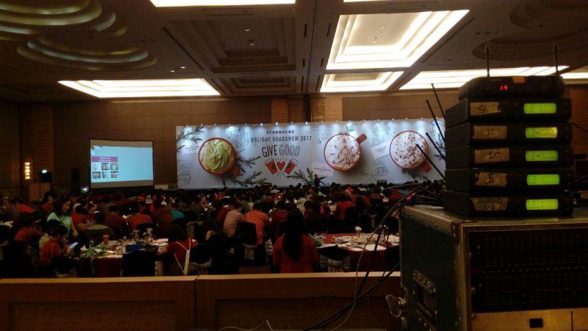 sewa sound system murah jakarta Seminar Gala Diner Starbucks